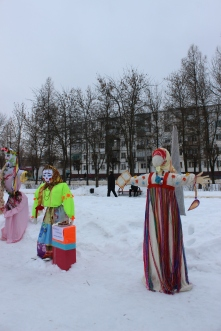 "One of the symbols of Maslenitsa is ""Maslenitsa"" or ""doll"" (кукла) - a selfmade doll like on the picture."